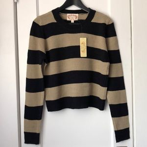 Ambiance brown and black striped knit sweater